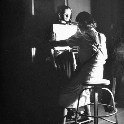 Girl Getting an X-Ray at the Irvington Home for Rheumatic Fever