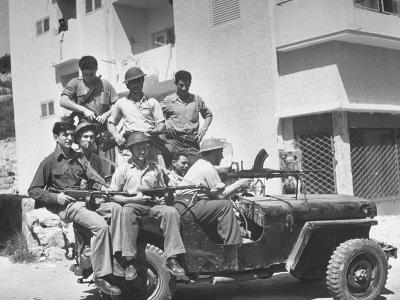 Haganah Special Squad Commandos Sitting in their Jeep