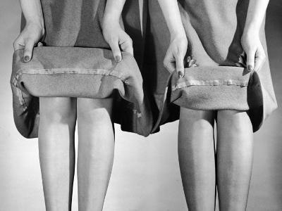 Dress Hemlines Displayed to Show Shorter Hem an Effort to Conserve Fabric During WWII