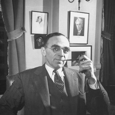 Civil Liberties Union Counsel Morris Ernst Sitting in His Office