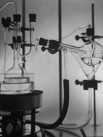 Glass Funnels, Beakers and Retorts Used in Chemical Experiments