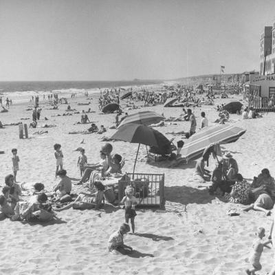 Sun Bathers at Hermosa Beach