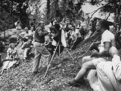Photographer Ansel Adams Teaching Students in Summer Class at Idyllwild