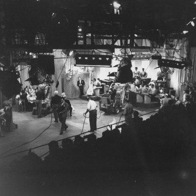 """Overall View of Production Scene from TV Series """"I Love Lucy,"""" Showing the Nightclub"""