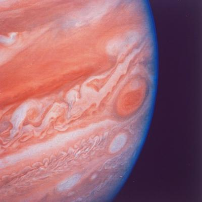 Jupiter's Great Red Spot During Late Jovian Afternoon, Photographed by Voyager 2 Spacecraft