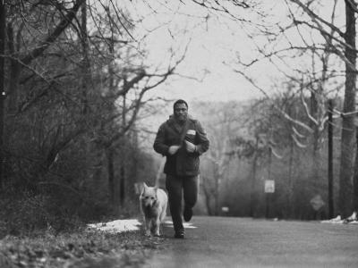 Boxer Joe Frazier Training for a Fight Against Cassius Clay, Aka Muhammad Ali