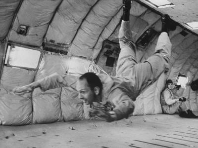 Astronaut Theodore C. Freeman During Training Flight Prior to His Plane Accident
