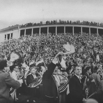 Football Fans at Yale-Harvard Game