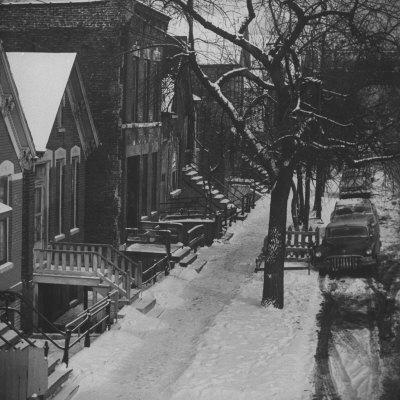 Street Scenes in the Slum Area of Chicago, Showing Tenement Houses and Dilapidated Buildings