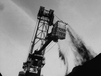 Power Shovel Being Used to Lift Coal During Strip Mining in Cumberland Mountain