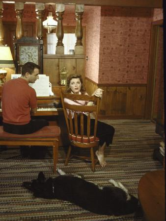 Composer Bob Troup Sitting at a Piano W. Singer Julie London