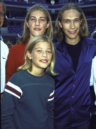 Members of Family Musical Group Hanson Taylor, Zach and Isaac