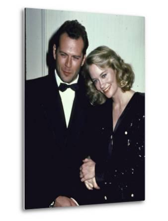 Actors Bruce Willis and Cybill Shepherd