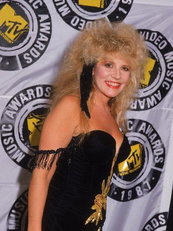 Stevie Nicks, Lead Singer of Rock Group Fleetwood Mac, at Mtv Video Music Awards