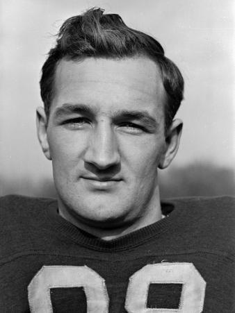 Headshot of University of Michigan Fottball Player, No.98, Tom Harmon