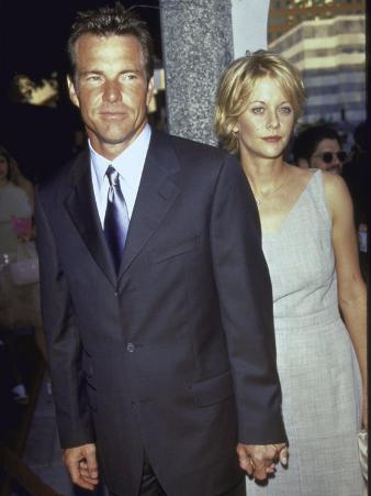 "Married Actors Dennis Quaid and Meg Ryan at Film Premiere of His ""The Parent Trap"""