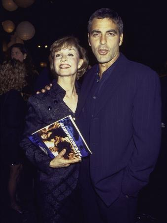 """Actor George Clooney and Mother Nina at Film Premiere of His """"The Peacemaker"""""""
