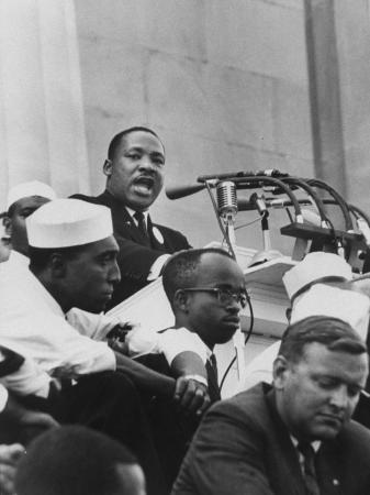 "Rev. Martin Luther King Jr. Giving His ""I Have a Dream"" Speech During a Civil Rights Rally"