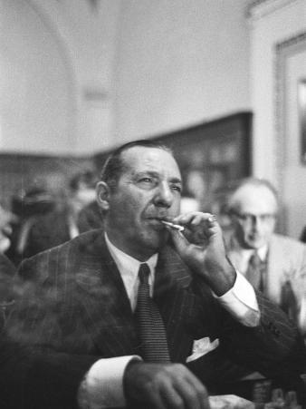 Mobster Frank Costello Testifying before the Us Senate