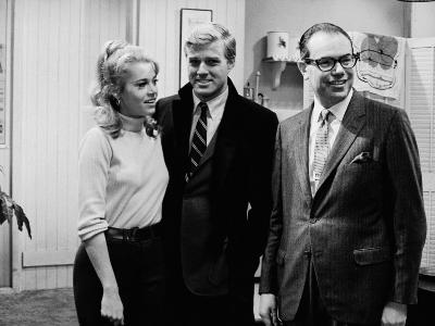 Actors Jane Fonda and Robert Redford with Gulf and Western Ceo Charles Bluhdorn