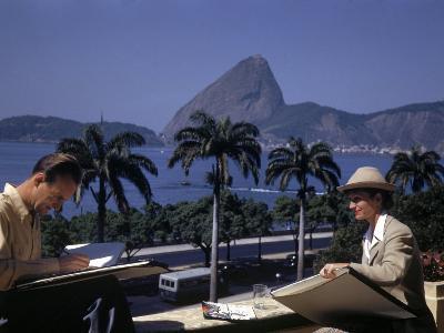 Disney Artist Mary Blair Working in Brazil W. Company Founder Walt Disney