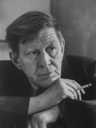 British Poet W.H. Auden Smoking Cigarette