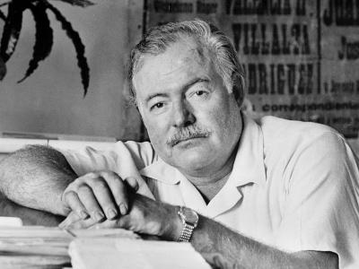 Author Ernest Hemingway in Fishing Village