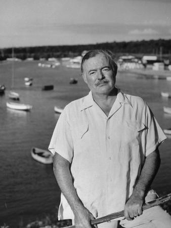 Author Ernest Hemingway Posing in Cojimar Harbor