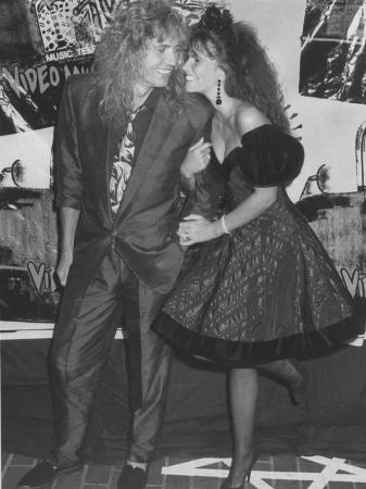 Rock Star David Coverdale and Wife, Actress Tawny Kitaen at the Mtv Video Awards