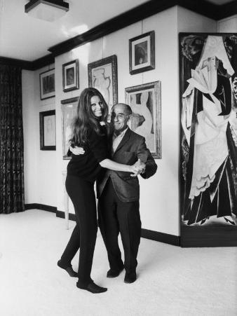 Actress Sophia Loren Dancing with Photographer Alfred Eisenstaedt in Her Villa