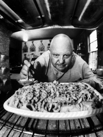 James Beard, Author of 12 Cookbooks, Preparing a Casserole