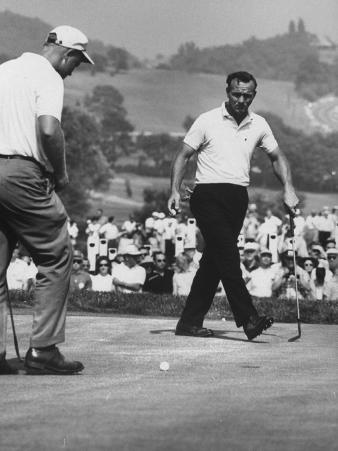 Jack Nicklaus and Arnold Palmer, in Playoff at Nat'L Open Golf Championship