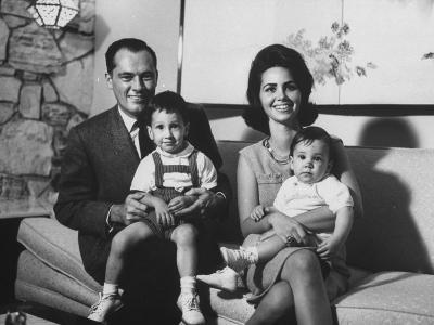 Conrad Hilton II and Family at their Home in Beverly Hills