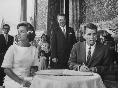 Robert F. Kennedy and Wife Ethel in Bangkok