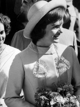 Mrs. John F. Kennedy Visiting India