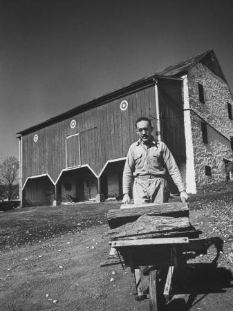 Writer S.J. Perelman at His Farm