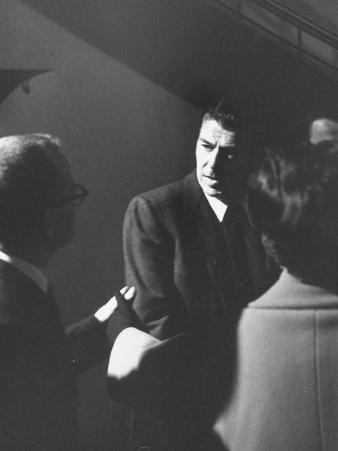 Screen Actors Guild President Ronald Reagan Answering Questions Re: Progress of Strike Negotiations