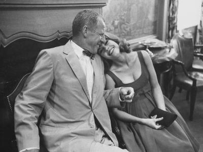 Photographer John Swope Sitting with Actress Jane Fonda During a Cocktail Party Given for Her