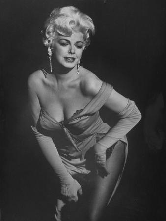 "TV Stripper Barbara Nichols in the Play ""The Untouchables"""