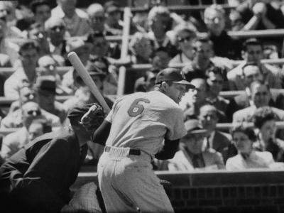 Baseball Player Stan Musial Standing at Bat