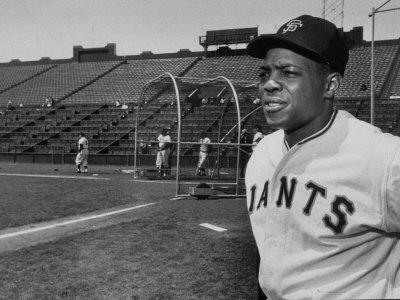 Baseball Star, Willie Mays on the Field