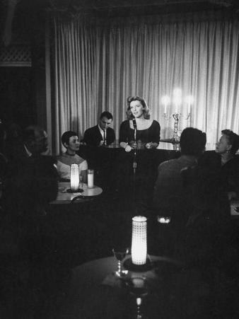 Singer Julie London Performing in a Nightclub