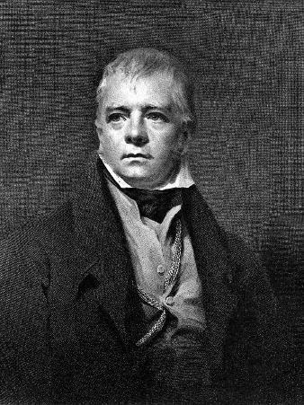 Portrait of Sir Walter Scott, Scottish Novelist and Poet