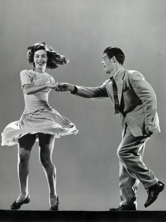 Dancers Stanley Catron and Kaye Popp Demonstrating the Lindy Hop