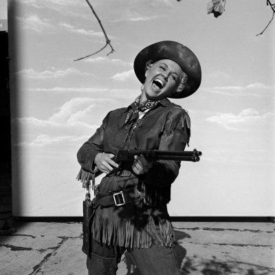 "Actress Doris Day in Costume on the Set of ""Calamity Jane"""