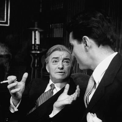 """Scene from """"The Confidential Clerk"""", Starring Claude Rains"""