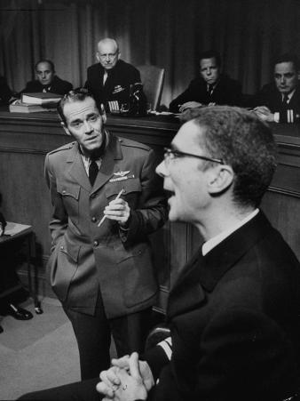 """Actor, Henry Fonda in """"Caine Mutiny Court Martial,"""" Play on Broadway"""