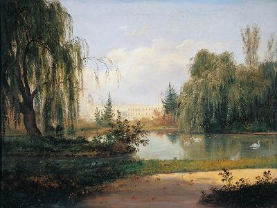 The Ducal Park of Colorno with a View of the Pond