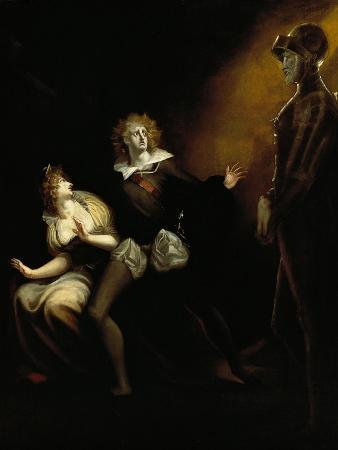 Gertrude, Hamlet and the Ghost of Hamlet's Father