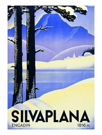 Advertising Poster Silvaplana
